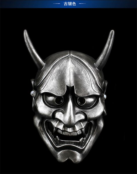 PVC Halloween Masquerade Assustador Rael Anime Japonês Anime Máscara Casa Branca Fantasma Majestoso Borboleta Fantasma Cabeça Cosplay Máscara De Plástico Traje