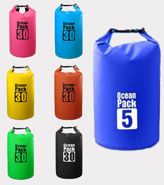 2019 Dry Bag Dry Compression Sack Portable Storage For Kayaking Beach Rafting Boating Hiking Camping Waterproof Bag For Swimming Gear M236Y