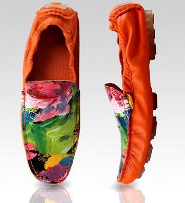 2019 nouveaux hommes casual chaussures squelette haricots chaussures mode respirant graffiti semelles souples des semelles souples chaussures en cuir