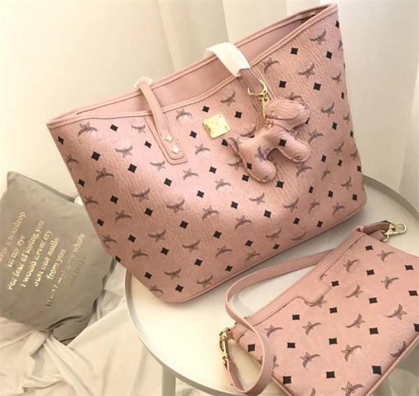 Pink Sugao Brand Letter Handbag Two Pcs Set High Quality for Girl Women Handbags Shoulder Bags 3color Avaliable Hot Brand Bag Famous Style