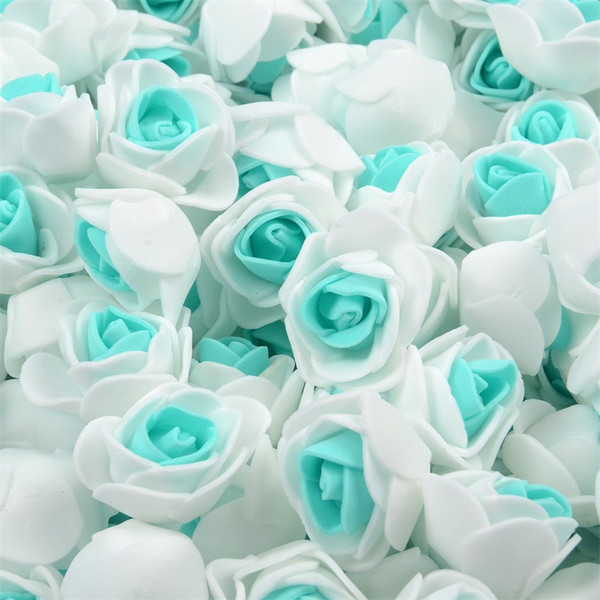 500pcs Double Color Mini PE Foam Rose Head Artificial Handmade Wedding Home Decoration Holiday Party Supplies Accessorie Craft