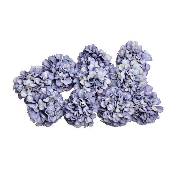 10pcs 4.5cm Artificial Silk Hydrangea Flower Head For Wedding Party Home Decoration Diy Wreath Gift Box Scrapbook Craft C19041701