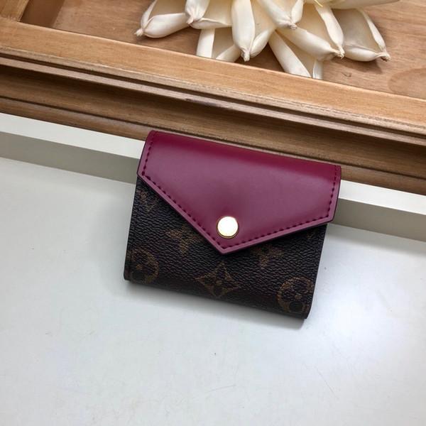 Meilleure qualité classique toile mots hommes portefeuille avec boîte femmes Véritable portefeuille carré en cuir véritable sac à main en cuir M62933