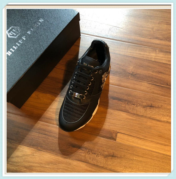 2019 New Arrivals Mens Fashion Luxury Platform Shoes Flat Casual best Lady Walking Casual Sneakers Luminous White Shoes Leather