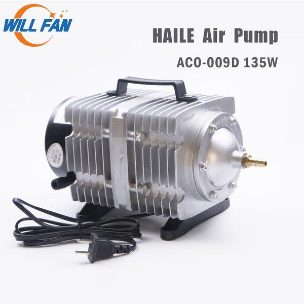 top popular Will Fan Hailea Air Pump Aco-009D 135w Electrical Magnetic Air Compressor For Laser Cutter Machine 125L min Oxygen pump Fish 2021