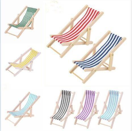 Outstanding 1 12 Doll House Mini Furniture Model Finished Stripe Wooden Lounge Chair Beach Chair Multicolor Favour Wedding Favours For Wedding From Ok Company Creativecarmelina Interior Chair Design Creativecarmelinacom
