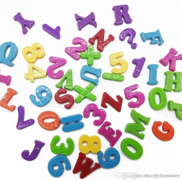 Wholesale-1 Набор для обучения Алфавитого Числа Цифровых Magnetic Baby Дети раннего обучения Холодильник Пазлы Игрушка для детей игр Подарков