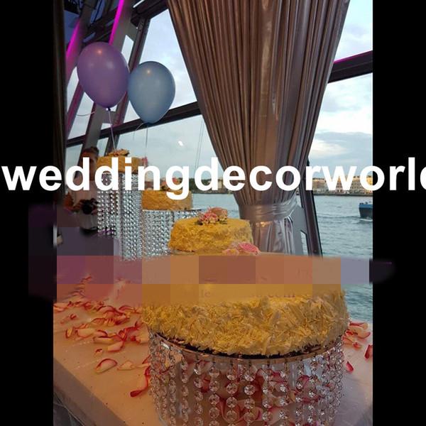 Acrylic metal candelabras with crystal pendants wedding candle holder centerpiece party decor decor443