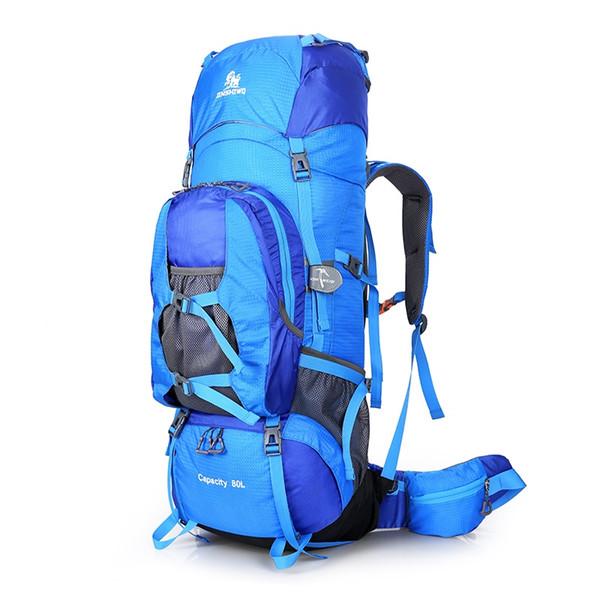 80L Large Outdoor Backpack Climbing Backpacks Hiking Big Capacity Rucksacks Sport Bag Travel Bag Mountain Men Waterproof Bags #288218
