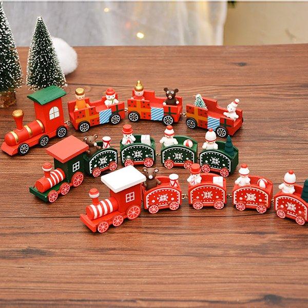 ornements Décorations De Noël Bois De Noël Petit Train Enfants Maternelle Fête Joyeux Décoration Nouvel An