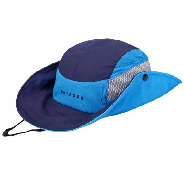 UV Protection Shade Boonie Bucket Hat Summer Breathable Mesh Fishing Cap Beach Hats Sun Men Women Camping Outdoors