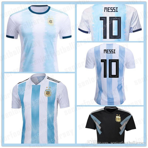 10 MESSI Argentina Soccer Jerseys #9 AGUERO 22 LAUTARO copa 2019 2020 DYBALA DI MARIA camisetas de futbol Home Away Mens football uniform