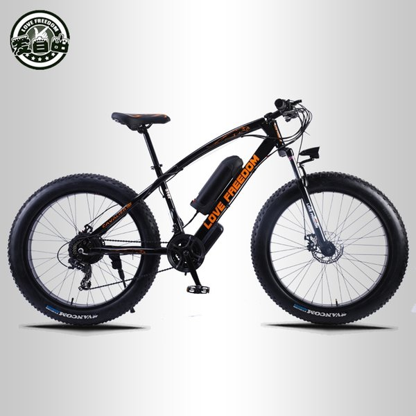 best selling wholesale 24 speed Mountain Bike Electric Bicycle 36V 350W 10.4Ah 26X4.0 powerful electric Fat bike free delivery