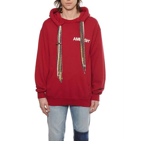 Erkek Triko Tide Marka Moda Tasarımı tarihi Kırmızı Renkli Kirli Örgülü Şapka Halat Erkek Hip Hop Gevşek Kapşonlu Triko Tide