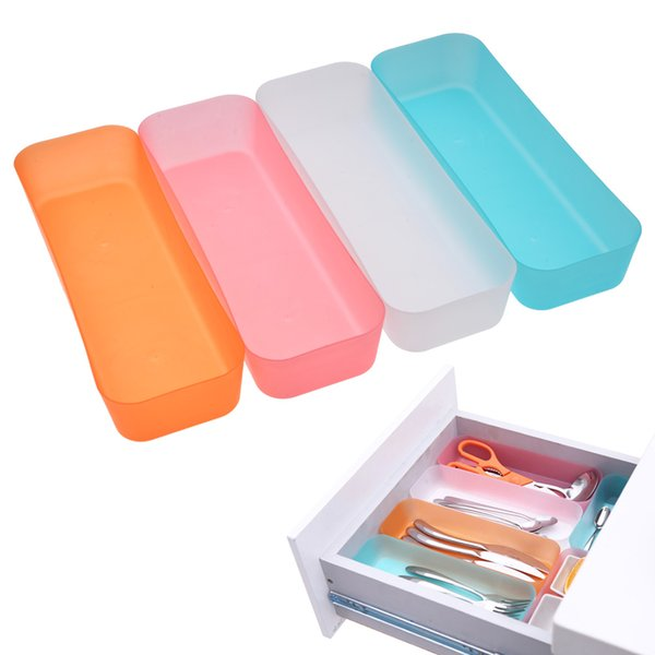 wholesale 3 Sizes Adjustable Drawer Organizer Makeup Storage Box Jewelry Divider For DIY Home Kitchen Clear Tools New