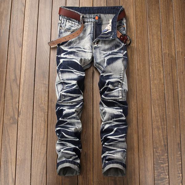 Мужские джинсовые брюки джинсы Slim Straight винтажные серые черные сексуальные джинсы для мужчин большой размер 40 42