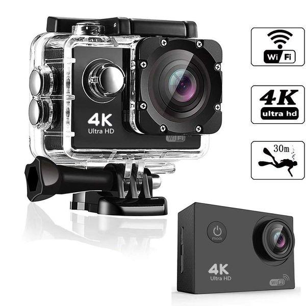 best selling HD 4K WIFT action Camera vedio digital Camcorder 30M sport DV 2.0 inch Screen 720P waterproof Helemt Cam