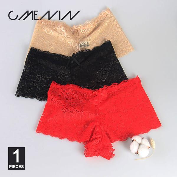 Cmenin New Plus Size Women Panties Vintage Lace Elastic Large Invariant Hollow Briefs Girl Sexy Underwear P0045 C19041801