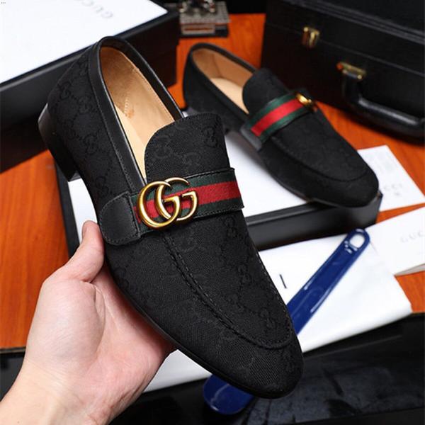2019 Мужские кожаные туфли роскошные мокасины ручной работы слип на итальянском дизайнерском мужском платье модной обуви Party Wedding Shoes 38-45