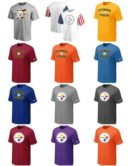 New Trend Pittsburgh Мужчины Steelers Боковая линия Legend Pro Line от Fanatics Ретро футболка с полихромным логотипом