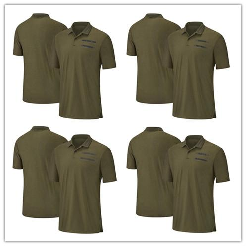 Mens Salute to Service Sideline Polos Olive Patriots T-shirts Tampa Bay Raiders Seahawks Buccaneers Oakland Seattle New England Tee