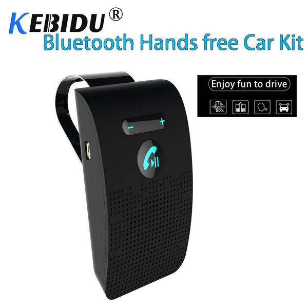 Kebidu Bluetooth 4.2 Kit mains libres voiture Kit mains libres auto Kit mains libres pare-soleil pare-soleil Salut-Fi Lound haut-parleur pour
