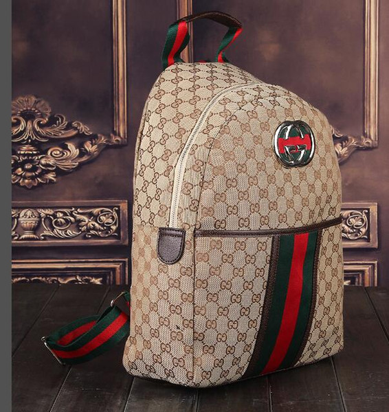 Genuine Leather High Quality 2019 men womens Backpack famous Backpack lady backpacks Bags Women Men back pack 98565