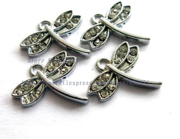 Precio al por mayor 10 unids forma de libélula colgante collar colgante accesorios