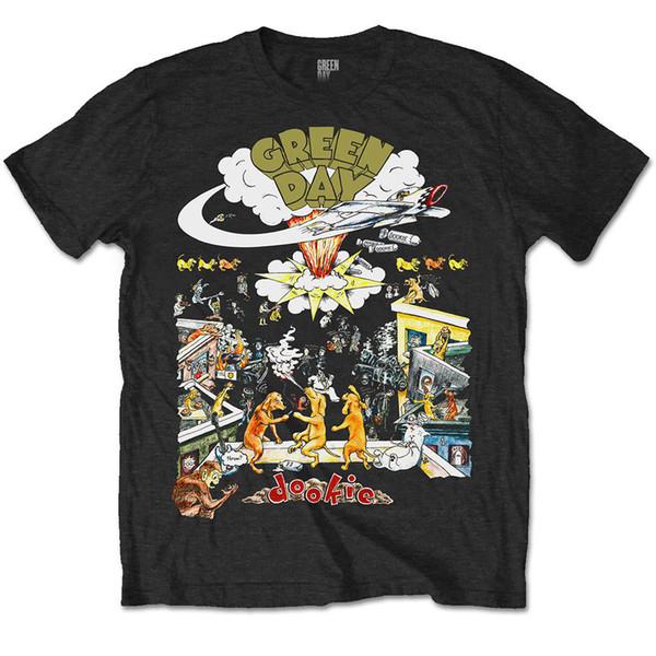 Resmi Yeşil Gün T Gömlek Dookie 1994 Tur Tee Lisanslı Mal Moda Komik ücretsiz kargo Unisex tee