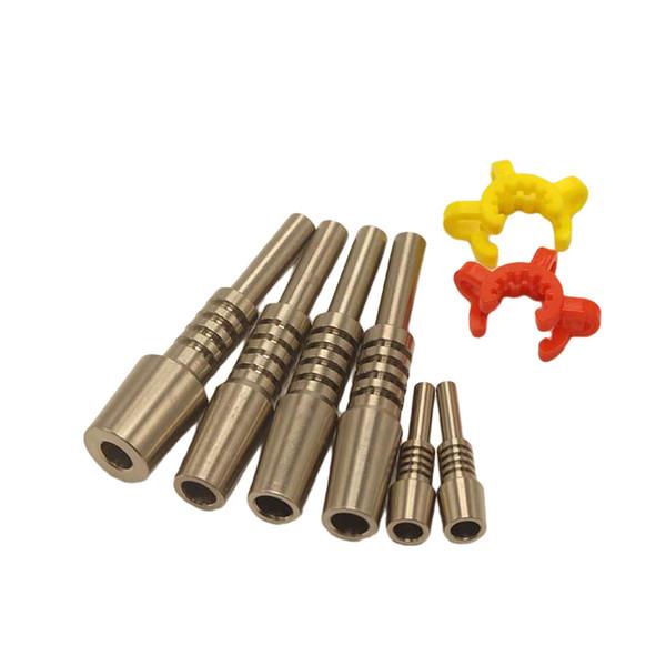DHL Free Honeystraw GR2 Titanium Nail 10mm/14mm/18mm Inverted Nails Grade 2 Titanium Tip for Glass Water Bong Dab Tool