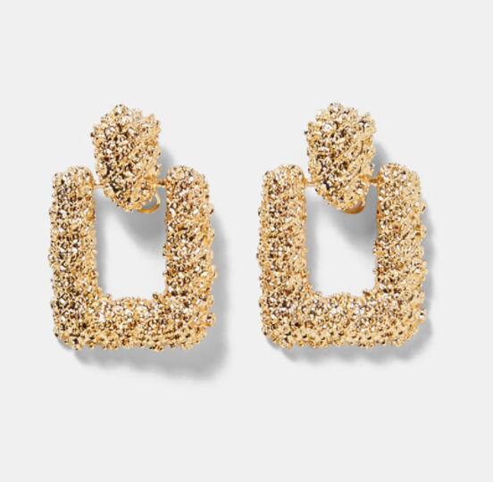 Wholesale-2019 Pendientes nuevo Big vendimia para las mujeres de color oro Pendientes geométricos Declaración de 2019 Earing metal colgantes joyería de la tendencia
