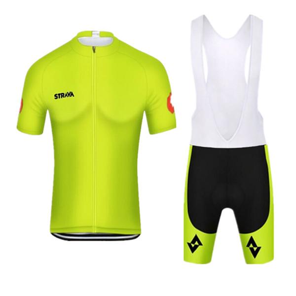 Nouveau STRAVA 2019 Vélo Jersey Maillot À Manches Courtes chemise 3D Pad Cuissards ensemble VTT VTT Porter À Séchage Rapide Respirant racing vêtements Y022202