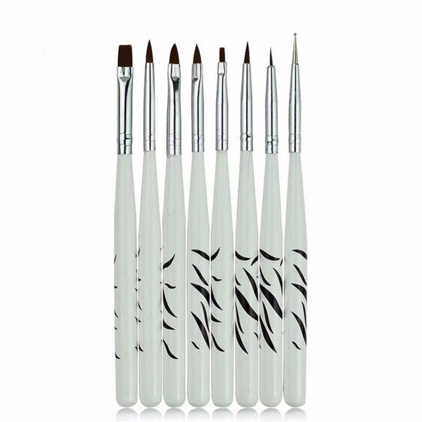 8PCS/1Set Zebra Nail Art Dotting Manicure Painting Drawing Polish Brush Pen Tool Brushes for Manicure