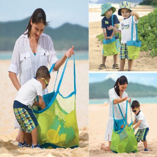 1Pcs Portable Mesh Bambini Beach Storage Bags Strumenti di dragaggio Toy Quick Storage Bag Borsa da viaggio Organizer Container Case