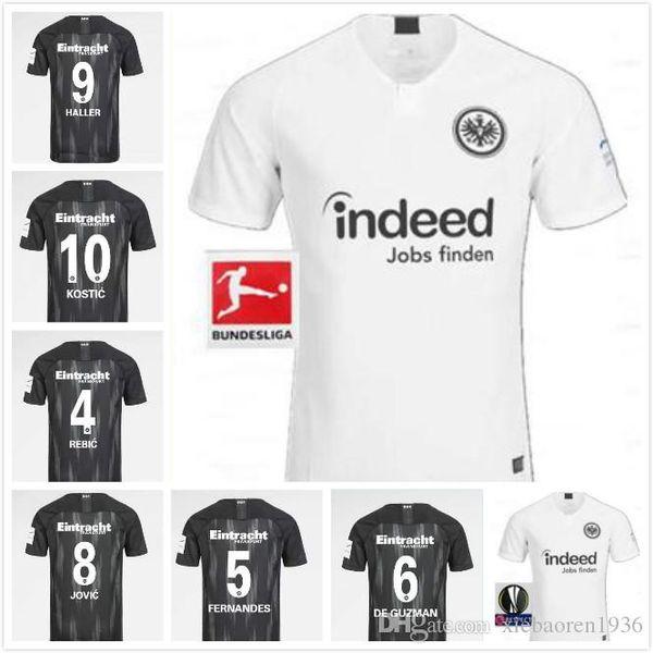 Novità 2019 18 19 Maglia da calcio Eintracht Frankfurt casa in trasferta 2018 2019 Maglia da calcio Europa League HALLER JOVIC REBIC