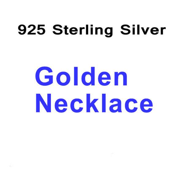 Collar de plata de oro