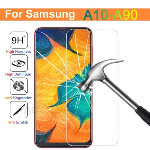 Samsung Galaxy A10, A30, A50, A20, A40 A60 A70 A80 A90 M10 M20 M30 A7 Ekran Koruyucu HD Koruma Filmi İçin 9H temperli cam