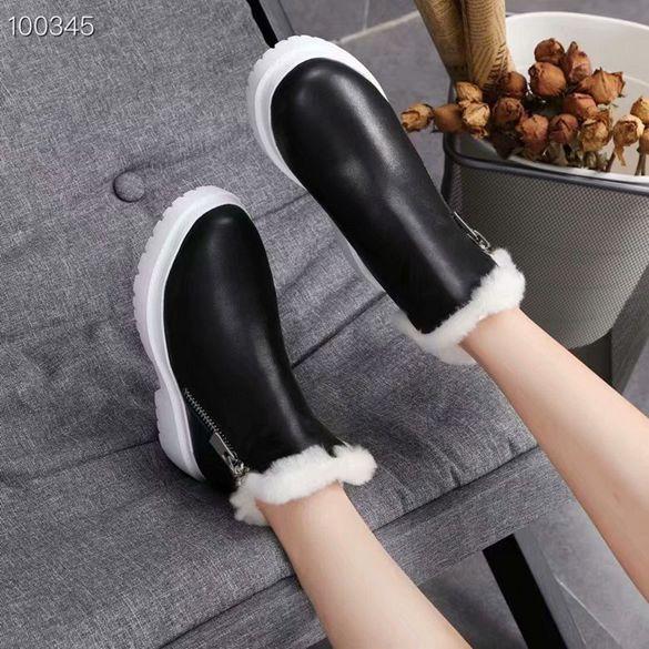 dames classiques bottes de neige livraison gratuite luxe bottes en cuir femmes de mode de haute qualité plate-forme imperméable noir et blanc des bottes antidérapantes