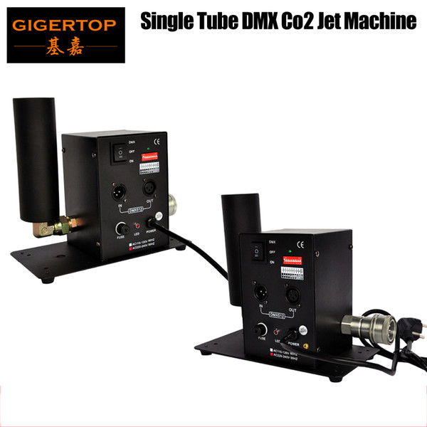 top popular Free Shipping 2pcs lot Single Tube CO2 Machine Jet Effect Stage Lighting co2 shooting effect DMX512 Column Jet Equipment 110V 220V TP-T27 2021
