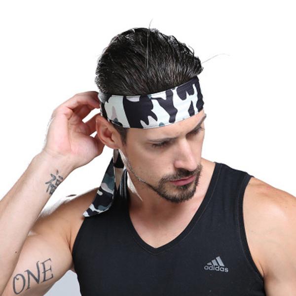 Sports Headband Sweat-absorbent Turban Male Camouflage Tennis Running Hair Band Women Outdoor Bundled Fitness Anti-sweat Belt