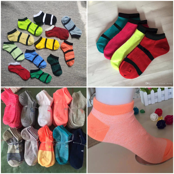 top popular Pink Black and U & A & B Ankle Socks Sports Cheerleaders Short Cotton Sock Unisex Women Cotton Sports Soft Mix Color Socks In Stock 2019