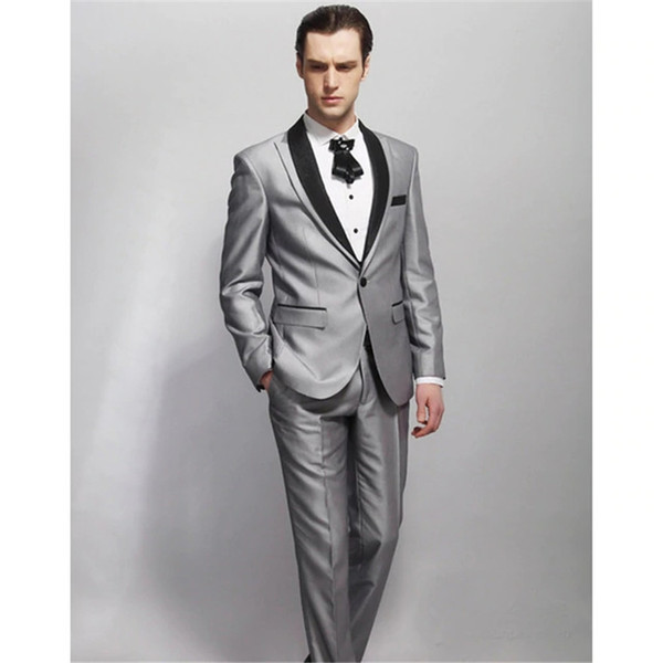 Smoking Suits New Design Jacket For Groom Tuxedos 2 Psc Groomsman Suit As Wedding Custom Made Man For Clothes(jacket+pants)