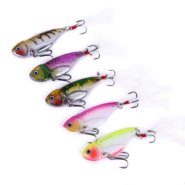 HENGJIA new Blade Lure metal fishing lures Fresh/Shallow Feathers Walleye Crappie swinger fly fishing hooks fishing lure Tackle VIB018