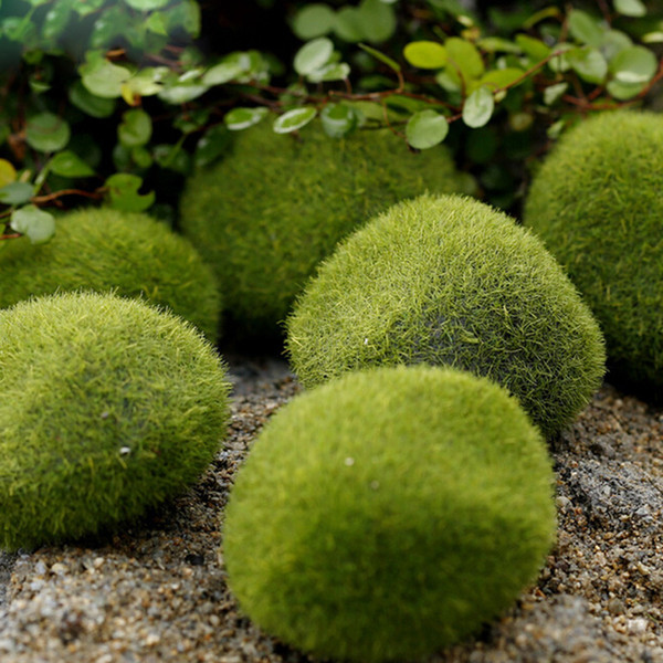 4 Size Artificial Rock Green Moss Plants Flowers For Party Garden Lawn Floor Home Decoration Accessories