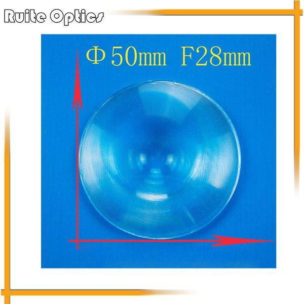 Freeshipping 5 pcs 50mm de Diâmetro Rodada Optical PMMA Fresnel Plástico Lente Condensadora de Comprimento Focal 28mm para Avião Lupa, Concentrador Solar