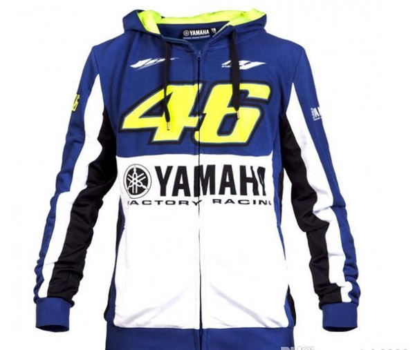 top popular Hot Sale Free ship 2019 brand YAMAHA VR 46 motorcycle cycling autumn winter hoodie motorcycle rider coat 2020