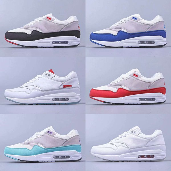 2019 New Brand 1 Outdoor Shoes Zapatos deportivos Hombres Mujeres Air Cushion Shoes Blue Red Sports Sneakers