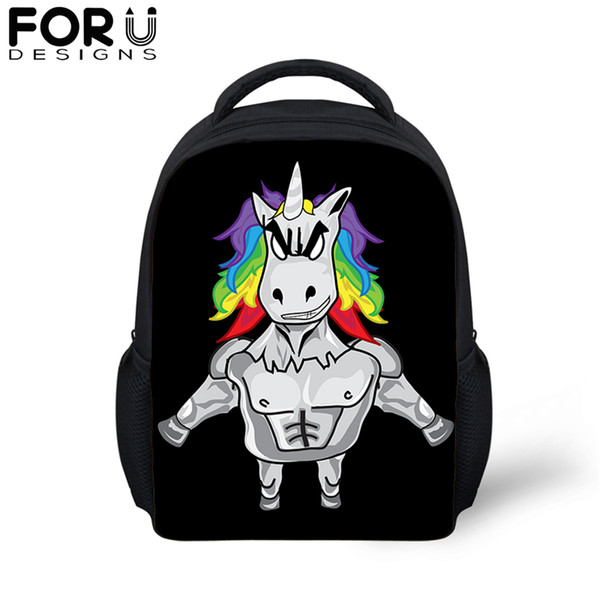 Cute Fantasy Unicorn 3D Print School Bag For Baby Girls Cartoon 12 inch Soft Backpack 4-11 Year Kids Small Toddler Bookbag