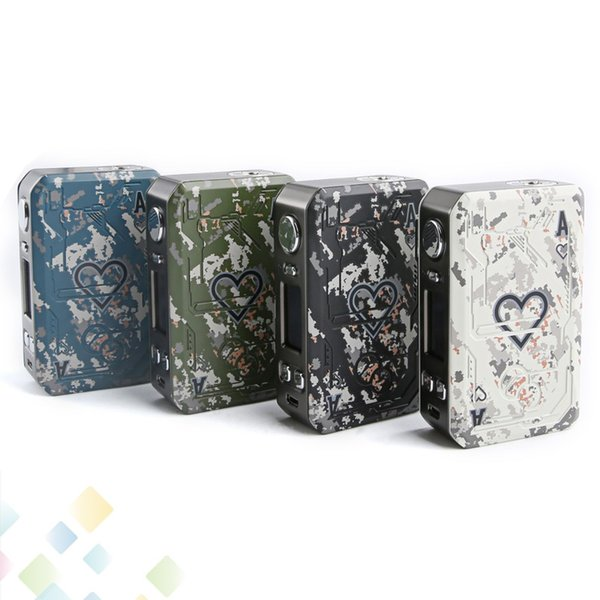 Original Teslacigs Poker 218W TC Box Mod Unique Hearts playing card design Tesla Poker 218 Fit 18650 Battery 510 Ecig DHL Free