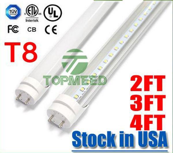 Stock de EE.UU. UL 1,2 m 2FT 3 pies 4 pies T8 18W 20W 22W llevó la luz del tubo 2400lm 110-240V de iluminación led tubo fluorescente Lámpara